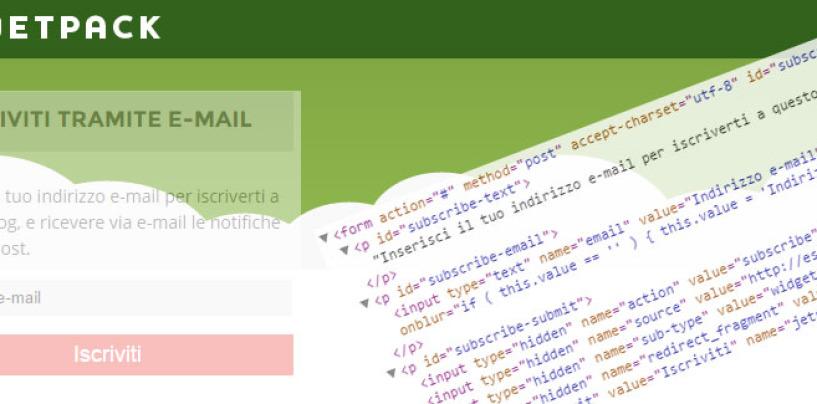 Jetpack, modificare il CSS di subscriptions (iscrizioni)