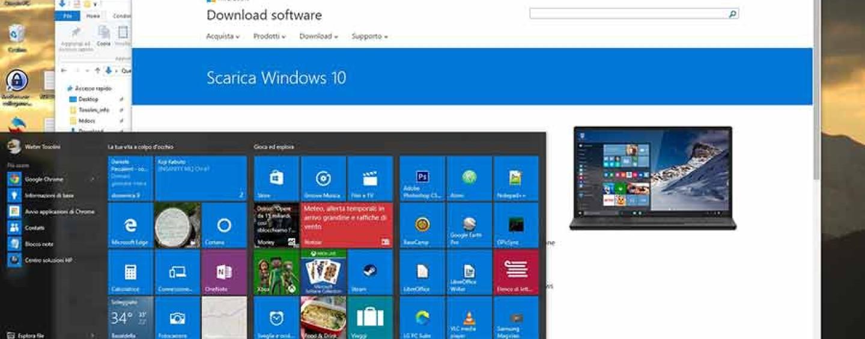 Post aggiornamento Windows 10, liberare spazio.