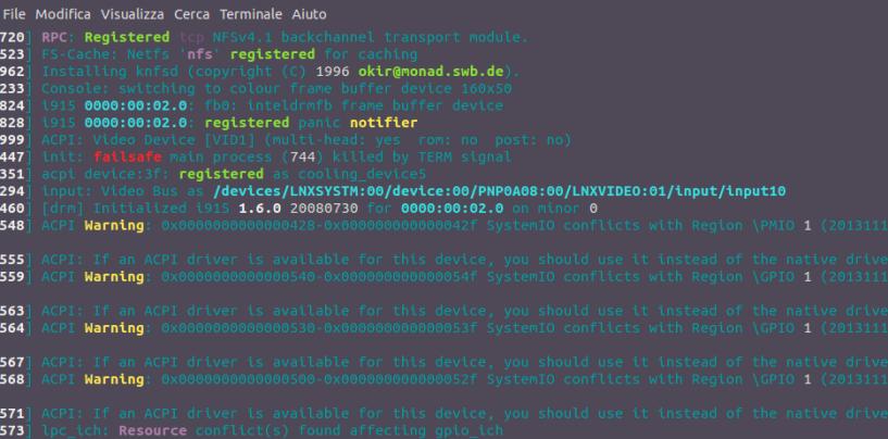Riavvio schedulato su Linux