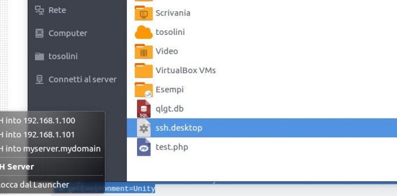 Ubuntu: Unity menu personalizzati nel launcher