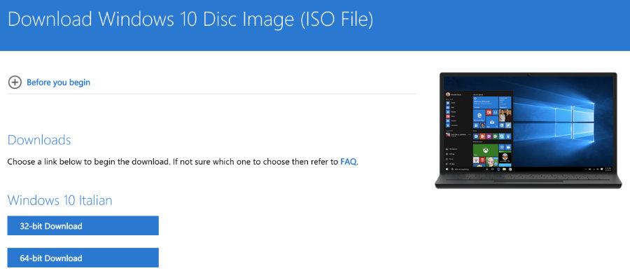 scaricare iso windows 7 senza product key